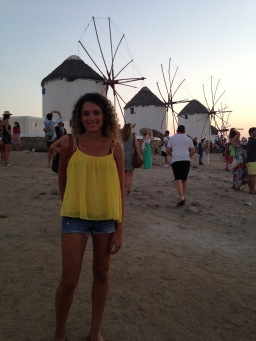Mykonos, Windmills, Greece, Europe, Vacation, Sunset