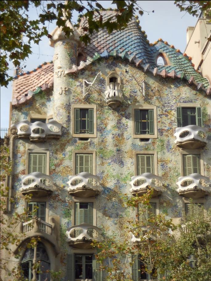 Barcelona, Spain, Gaudi, Casa Batllo, Vacation, Europe
