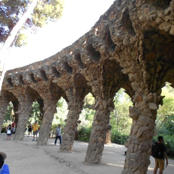 Barcelona, Spain, Gaudi, Park Guell, Vacation, Europe