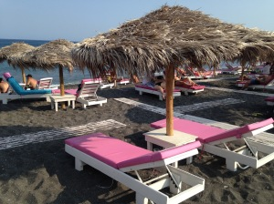 Santorini, Greece, Europe, Beach, Black Beach