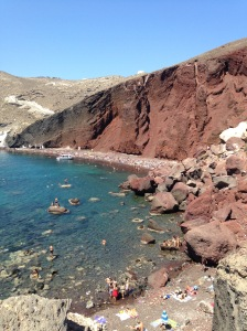 Santorini, Greece, Europe, Beach, Red Beach